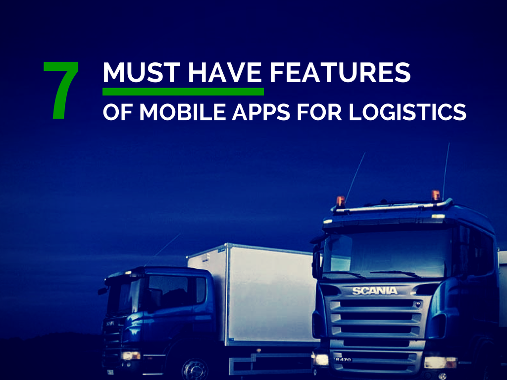 Mobile Apps for Logistics - Mobiloitte Blog